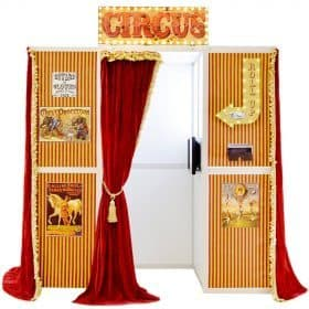 Vintage circus photo booth
