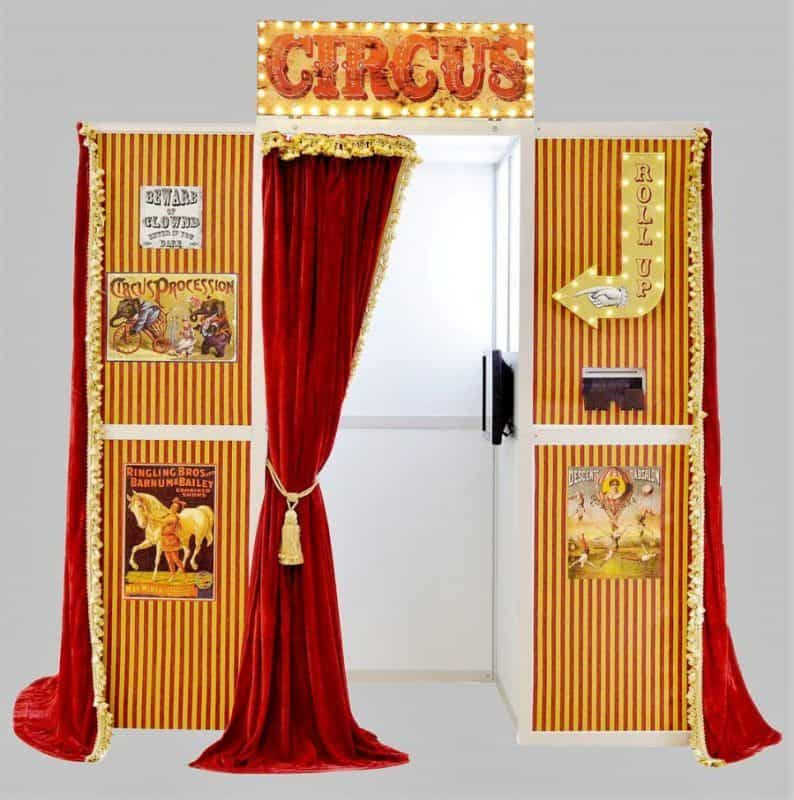 Vintage circus photo booth hire