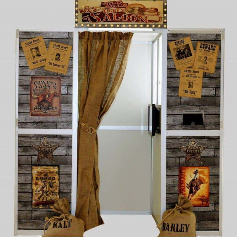 wild west saloon bar photo booth