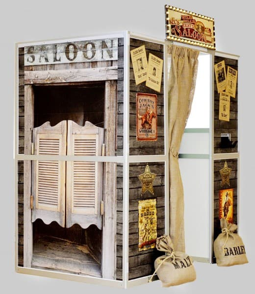 wild west saloon bar photo booth hire