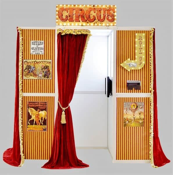 vintage circus saloon bar photo booth hire