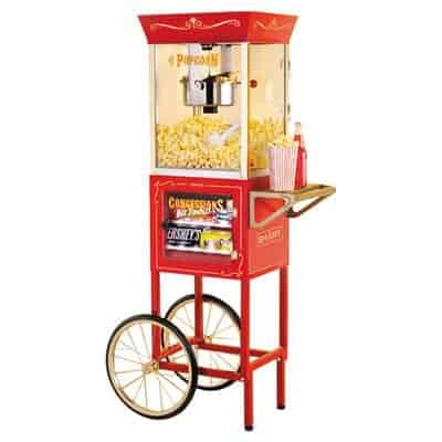 vintage popcorn machine hire