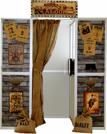 picture of the wild west saloon bar photo booth