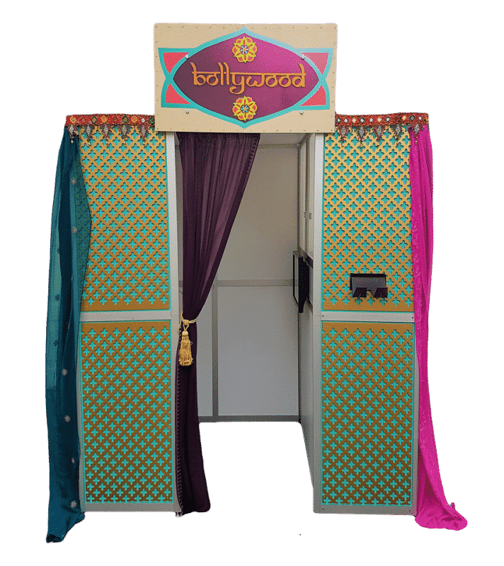 picture of the bollywood booth for indian weddings