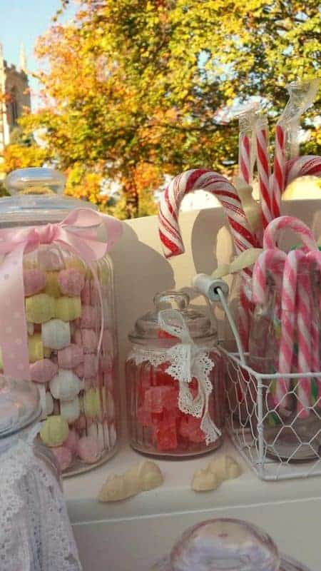 picture of the sweets that comes with the candy cart