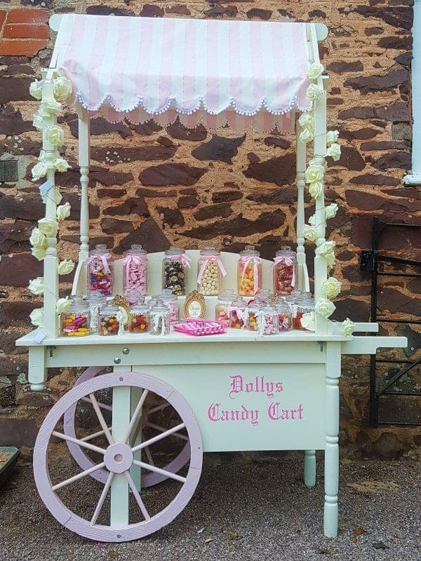 Full side pic of dollys candy cart