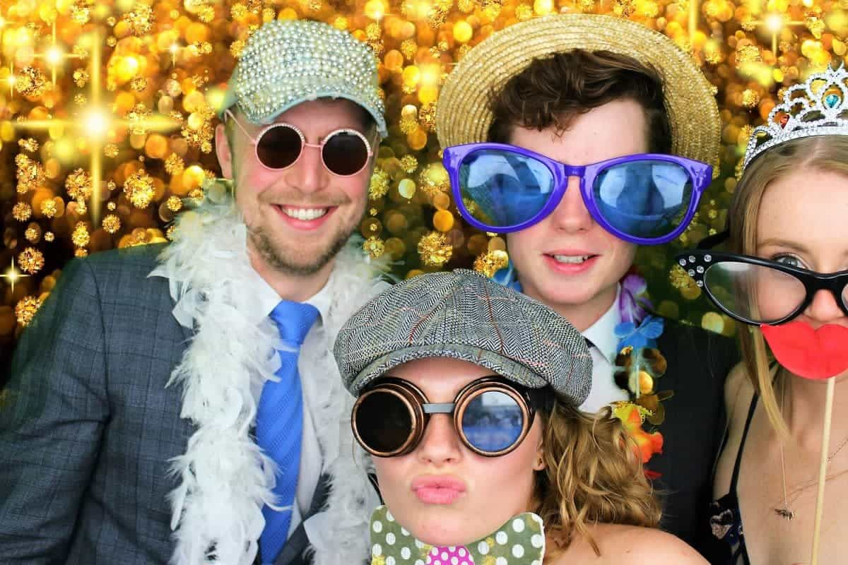 Guests enjoying the party photo booth